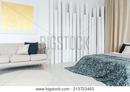 Multifunctional Room With Gold Painting