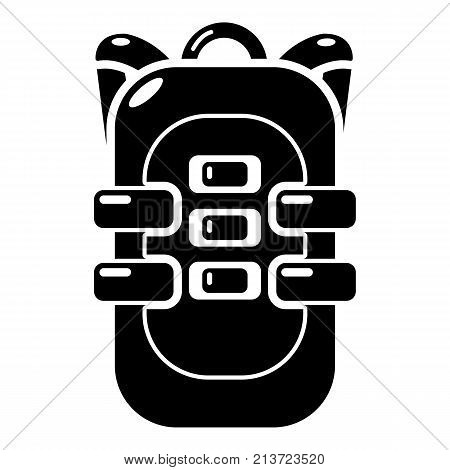 Backpack travel icon. Simple illustration of backpack travel vector icon for web