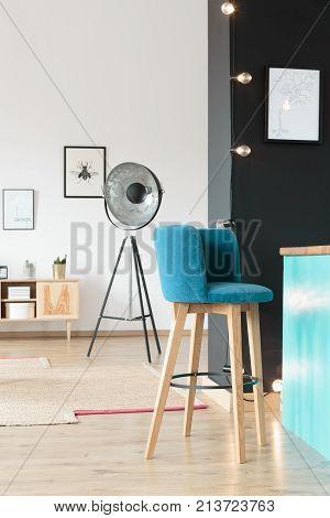 Stylish. Wooden Barstool