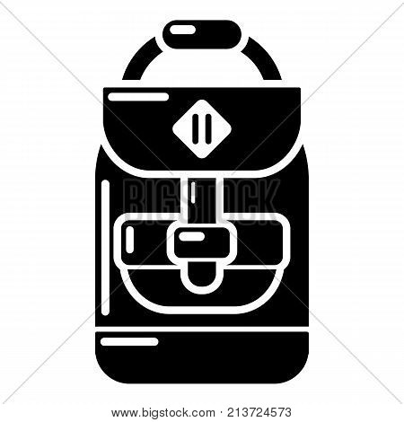 Backpack schoolboy icon. Simple illustration of backpack schoolboy vector icon for web