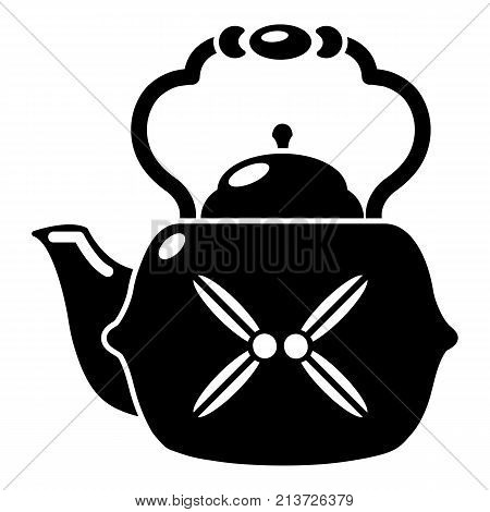 Kettle vintage icon. Simple illustration of kettle vintage vector icon for web