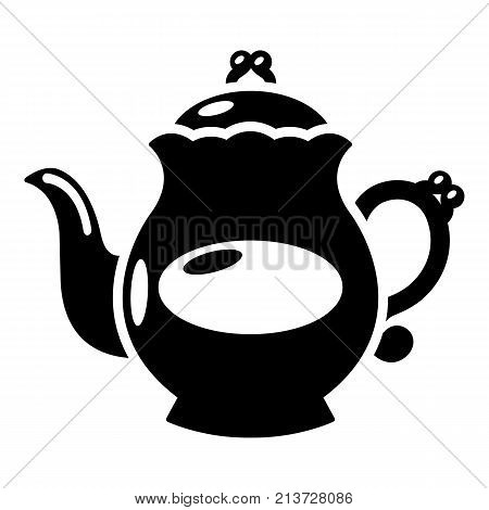 Kettle porcelain icon. Simple illustration of kettle porcelain vector icon for web
