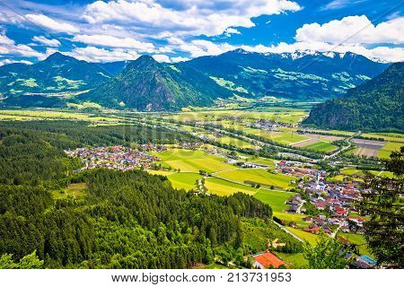 Inn River Valley And Town Of Wiesing View