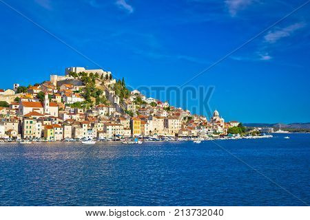Historic Town Of Sibenik Waterfront View