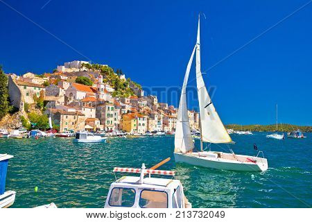 Town Of Sibenik Waterfront Sailing