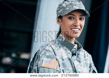 Soldier With Usa Flag Emblem