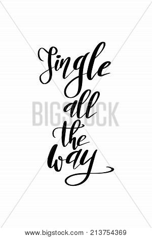 Christmas quote, lettering. Print Design Vector illustration. Jingle all the way.