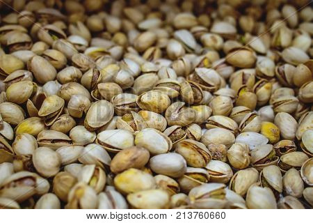 Pistachio Texture. Nuts.