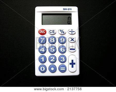 White Pocket Calculator