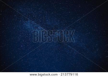 Milky Way Star Night Sky Winter Background