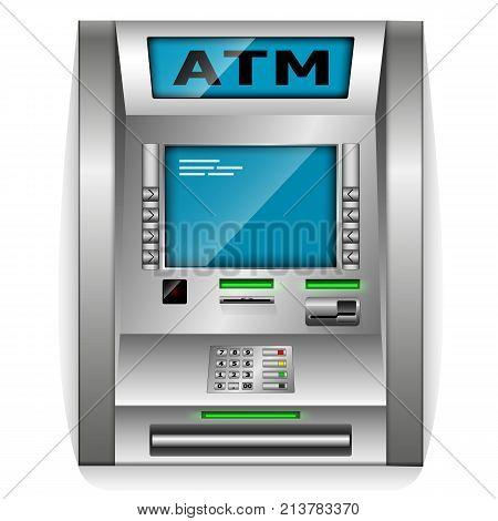 ATM - Automated teller machine. Metal construction. High detail. 3D