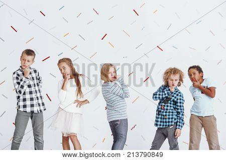 Children Posing As Thinkers