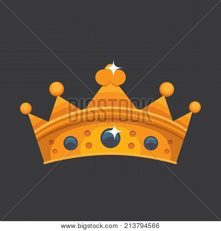 Crown icon award for winners, champions, leadership. Royal king, queen, princess crown