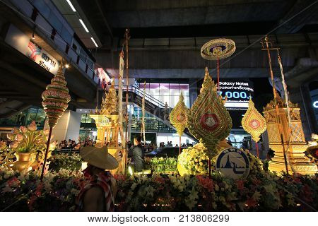 Bangkok, Thailand - November 15, 2017 :  Amazing Thailand festival at BTS Siam station.