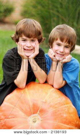 Boys On A Pumpkin