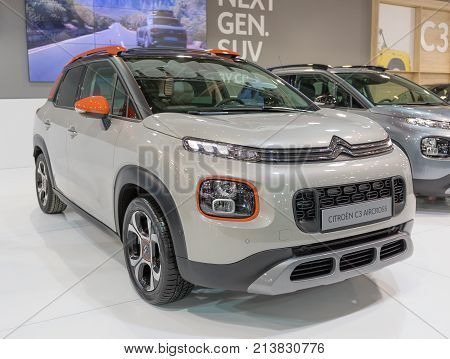 ATHENS, GREECE - NOVEMBER 14, 2017: Citroen C3 Aircross at Aftokinisi-Fisikon 2017 Motor Show.