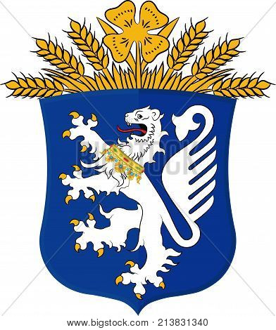 Coat of arms of Leer is a district in Lower Saxony Germany. Vector illustration