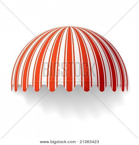 Dome awning. Vector.