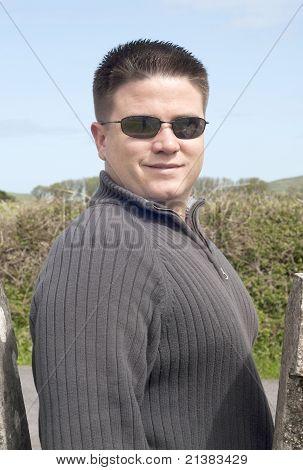 Portrait Of Handsome Twentysomething Caucasian Man