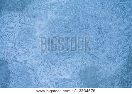 Winter Ice Background, New Year