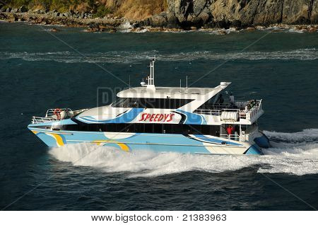 Sightseeing Boat In Tortola, The Caribbean