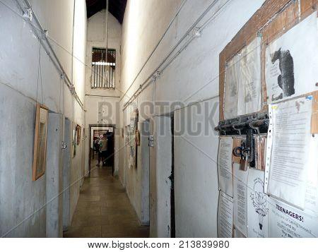 Geraldton, Western Australia-October 10, 2010: the historic Geraldton Old Gaol Museum