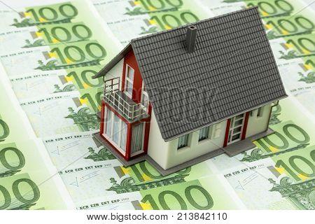 residential house on bills