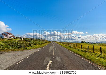 Scottish Road In The Isle Of Skye