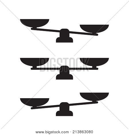 Scale Icon Vector. Scale Vector Sign Isolated