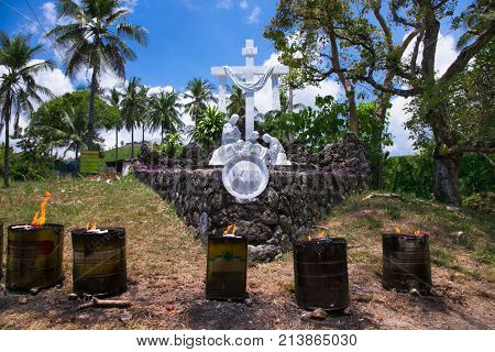 Celestial Garden in Banawa Hills in Cebu city. Philippines. It is most visited by Cebuanos and Roman Catholics. poster