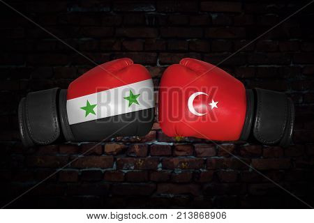 A Boxing Match Between The Syria And Turkey