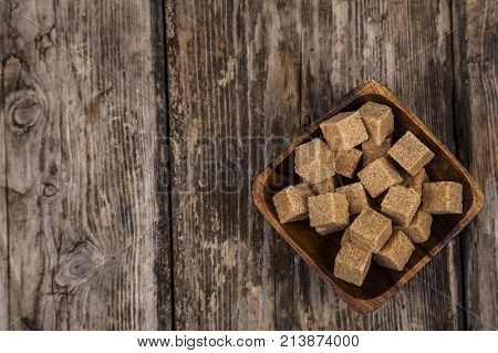 Bowl With Cubes Of Cane Sugar