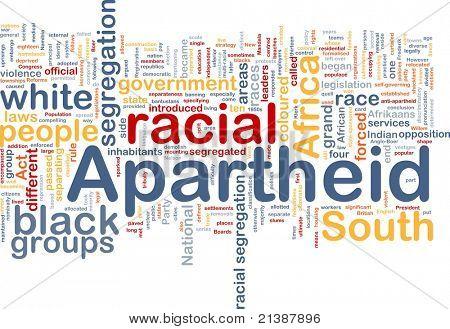 Background concept wordcloud illustration of apartheid