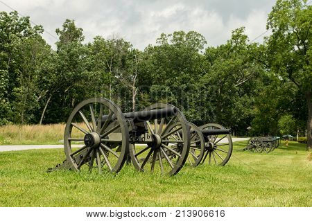 Historic Cannon Artillery Row