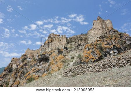 Ruins of a medieval fortress Atskuri in South Georgia. The Republic Of Georgia