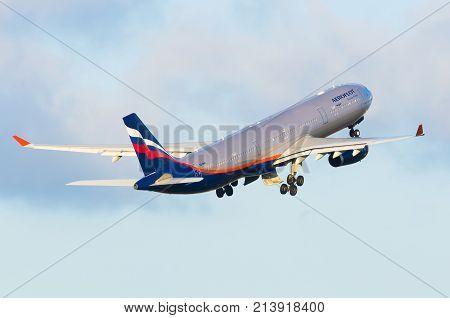 Airbus a330 Aeroflot Airlines. Russia. Saint-Petersburg 13 September 2014