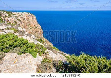 View Of Cliffs Near Mola Lighthouse, Formentera, Spain