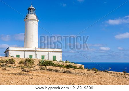Mola Lighthouse In Formentera, Spain