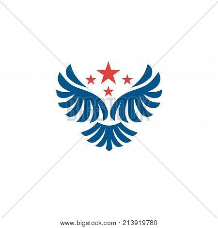 Vector star wings logo, Wing logo company, icon wing flying, eagle wing brand and logotype wing bird illustration