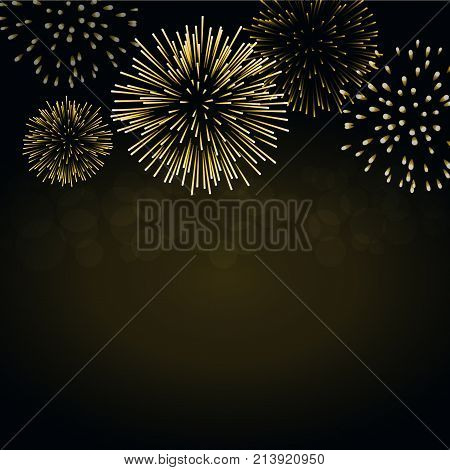 Firework Sparkle Background Card