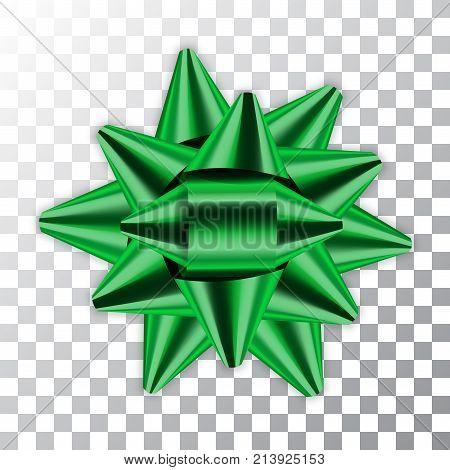 Bow Ribbon Christmas Vector Illustration