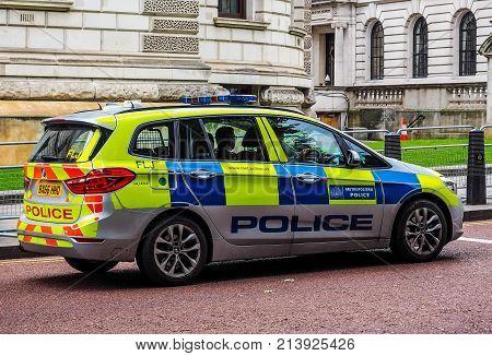 Police Car In London (hdr)