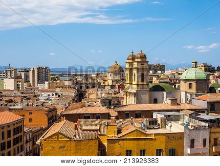 Aerial View Of Cagliari (hdr) (hdr)