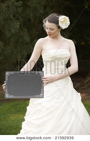 Bride And Blank Board