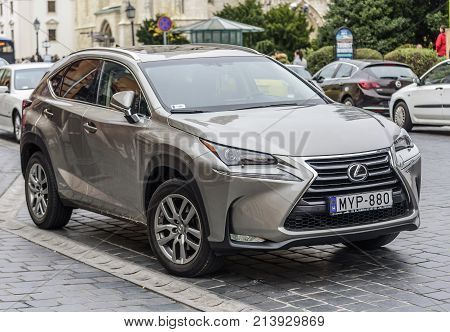 BUDAPEST, HUNGARY - OCTOBER 28, 2017: Lexus NX parked on the streets of Budapest.
