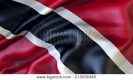 Waving flag of Trinidad and Tobago, Patriot ,3d, illustration