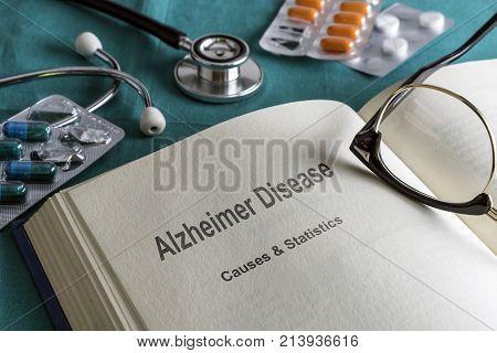Open Book Of Alzheimer disease, Conceptual Image