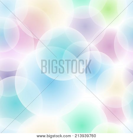 Vector seamless color pattern. Abstract background with overlapping circles. Eps 10 file.