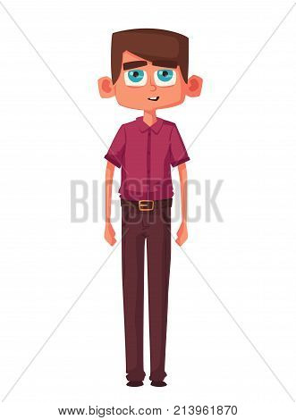 Cute kid. Cartoon vector illustration. Character design