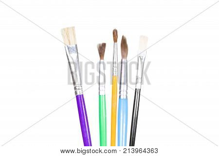 Group Of Various Artist Brushes